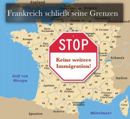 Frankreich-Grenzen-dicht